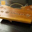 木製 ドアプレート(アルファベットひも付き) TOILET ...
