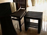 バリ家具格子サイドテーブル