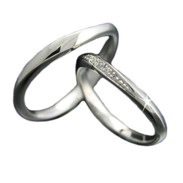 ペアリング 2本セット K10 ホワイトゴールド 結婚指輪 天然 ダイヤモンド 日本製【NEWショップ】【送料無料】 【ペアリング】【ホワイトゴールド】