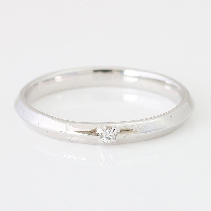 指輪 K10ホワイトゴールド リング 天然ダイヤ...の商品画像