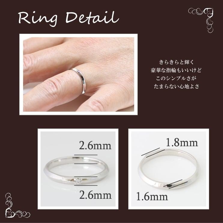 指輪 K10ホワイトゴールド リング 天然ダイ...の紹介画像3