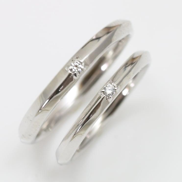 ペアリング 2本セット プラチナ Pt900 天然ダイヤモンド マリッジリング 結婚指輪 日本製【NEWショップ】【送料無料】【プラチナ】【ダイヤモンド】【ペアリング】