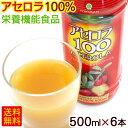 アセロラ100 果汁100% 500ml×6本 【送料無料】 │アセロラジュース アセロラドリンク