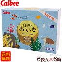 カルビー 自慢のおいも 石垣の塩味(20g×6袋入)×6箱 【送料無料】