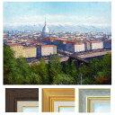 中島達幸 「古都トリノの街」 F6号 油彩画 真筆 額入り 油絵 風景画 インテリア 肉筆画 イタリア バロック建築 モーレ・アントネリアーナ