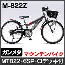 My Pallas(マイパラス) 22インチ子供用マウンテンバイク M-822Z (ガンメタ) シマノ製6段ギア 子供用自転車【送料無料!!】