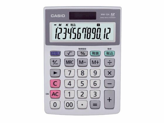 カシオ/ミニジャストサイズ電卓/MW-12A-Nの商品画像