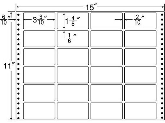 NANA/連続ラベル ナナフォーム 24面 500折/MT15T
