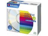 バーベイタム/データ用CD-RW 700MB 1?4倍速 10枚 5mmプラケース