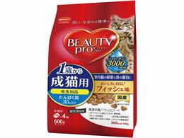 日本ペットフード/ビューティープロ 成猫用フィッシュ味 600g
