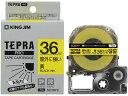 キングジム/テプラPRO屋外に強いラベル36mm 黄 黒文字/SC36YV