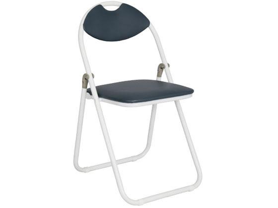 カグクロ 折りたたみ椅子 ホワイトフレーム パイプ椅子