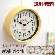 【送料無料】アンティーク掛け時計 音がしない 22cm レトロ ヴィンテージ おしゃれ 掛け時計 壁掛け時計 ウォールクロック インテリア ギフト 円形 丸型