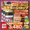 訳ありセール JAS有機認定オーガニック ココナッツ ネクター シロップ 300g 3個 (USDA EURO Certified Organic Coconut Nectar Syrup)