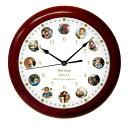 【成長時計】木製ブラウン 丸形 壁掛け時計 赤ちゃん 1歳の誕生日 ファーストバースデー 誕生
