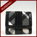 [free shipping] burberry London Burberry Lady's wallet folio wallet Small beat check Perth mbu34636731