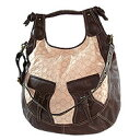[Betsey Johnson] Betsy Johnson Eye Love Betsey beige X brown large handbag # 0061