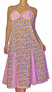 Betsy Johnson floret pattern race one piece BE-0068