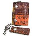 Leather Island (レザーアイランド) VINTAGED BIKER WALLET NO WAR 三つ折財布#LIW1220_BRW