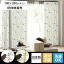 カーテン 遮光カーテン 遮光 北欧 日本製 洗える 遮光2級 モダン シンプル ナチュラル 100×200 かわいい