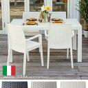 ガーデンテーブル&チェアー5点セット ラタン風 ガーデン テーブル セット チェア 椅子 かわいい バルコニー テラス STERA ステラ 5点セット 肘掛け ...