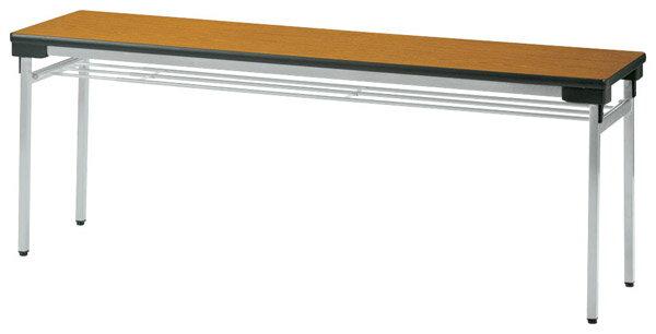 ニシキ工業:「受注生産品」折りたたみテーブル UW-1560-チーク 【ポイント10倍】オフィス 家具 事務機器 会議 机 テーブル イベント