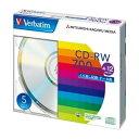 【後払い不可】三菱化学メディア:PC DATA用 CD-RW 書き換えタイプ 4-12倍速対応 5枚 SW80EU5V1 03510