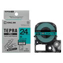 キングジム:「テプラ」PRO SRシリーズ専用テープカートリッジ 強粘着ラベル 8m 緑 黒文字 24mm幅 SC24GW 20710