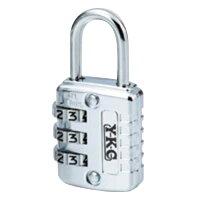YKC:フリーダイヤル錠 クローム 幅26×奥10×高33mm 吊軸:3.5mm 内高:18.5mm 120-26-C 53711の画像