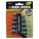 BLACK & DECKER:ソケットビット 10本セット B43003
