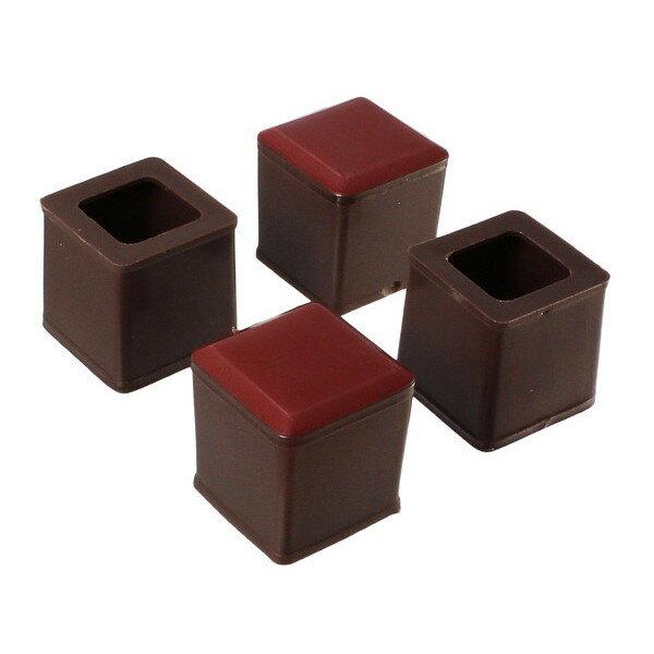 ハイロジック:スライドクッション 17〜20ミリ 茶 角キャップSS 入数1袋(4個) 00057172