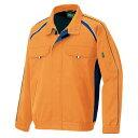 ショッピングORANGE アイトス_エコワーカーフォレスト 長袖ブルゾン(男女兼用) オレンジ LL 1701