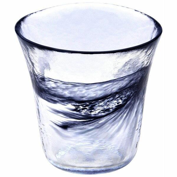 上越クリスタル硝子:月夜野工房 我が家の一杯 焼酎グラス S 黒 T1-0240-KU