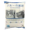 ショッピング猫砂 ペットプロジャパン_ペットプロ ブルーの紙砂 7L 猫 砂 猫砂 トイレ 紙 再生紙 固まる 燃やせる 流せる