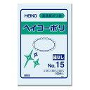 シモジマ:HEIKO ポリ袋 透明 ヘイコーポリエチレン袋 0.03mm厚 No.15 100枚 006611501