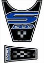 MOTOGRAFIX(モトグラフィックス):タンクパッド ブラック/ブルー BMW K1300S MT-TB006B