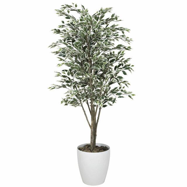 光の楽園:(154C480-21)ベンジャミンツリー斑入り1.8 92342 インテリア 光触媒人口植物 造花 観葉植物
