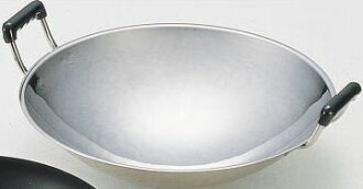 Stainless steel wok with both hands (Canton wok) 28 cm MARUTAMA18-0.