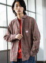 [Rakuten Fashion]SMITH別注ガーデニングシャツ coen コーエン シャツ/ブラウス 長袖シャツ ブラウン ネイビー【先行予約】*