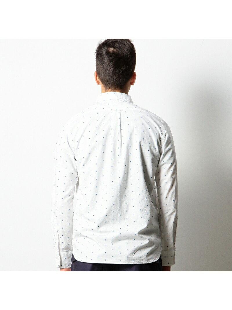 coen メンズ シャツ/ブラウス コーエン coen カットドビードットボタンダウンシャツ コーエン シャツ/ブラウス【RBA_S】