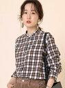 [Rakuten Fashion]ウィンターリネンバンドカラーシャツ(チェック/ストライプ)# coen コーエン シャツ/ブラウス 長袖シャツ ブラウン ベージュ カーキ