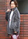 [Rakuten Fashion]Champion(チャンピオン)別注シェルパフリースブルゾン#(ジップブルゾン/ボアブルゾン) coen コーエン コート/ジャケット ブルゾン グレー ホワイト【送料無料】