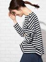 [Rakuten Fashion]ボーダーボートネックカットソー coen コーエン カットソー Tシャツ ブラック ベージュ ブルー