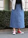 [Rakuten BRAND AVENUE]USAコットンデニムフレアロングスカート coen コーエン スカート【送料無料】