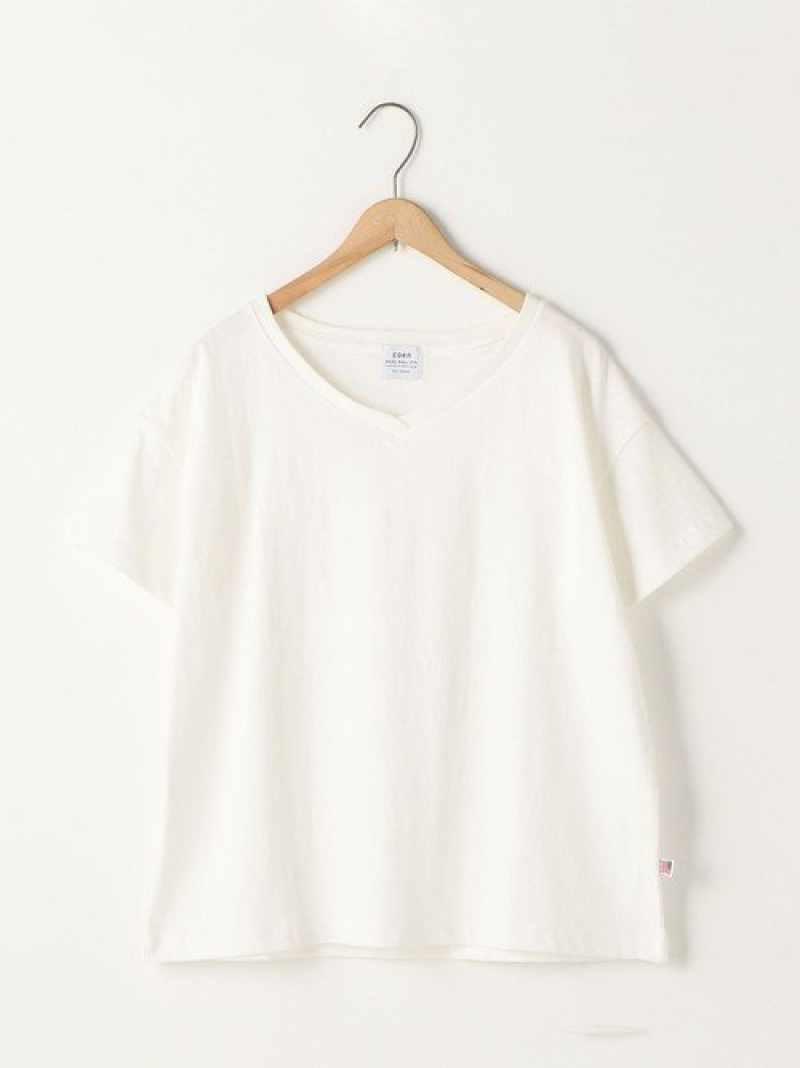 [Rakuten BRAND AVENUE]【新色追加】USAコットンVネックTシャツ coen コーエン カットソー