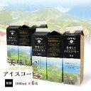 美味しいアイスコーヒー 無糖 1000ml【6本】 珈琲 コーヒー 美味しい パック 高級 紙パック セット ドリップコーヒー 無糖 リキッド 1L SALE アイスコーヒー スペシャルティコーヒー