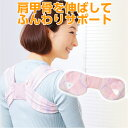 ショッピングデスク 肩甲骨を広げる3D設計!背筋を伸ばしてサポート◆やわらかリフレ肩甲骨サポーター[コジット]やさしい肌触りで素肌に直接つけてもOK背筋 猫背 姿勢 バストアップ 矯正 デスクワーク c