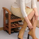◆送料無料狭い玄関にも省スペースで置けて、靴も収納☆靴の脱ぎ履きが楽になります!コンパク...