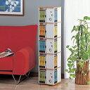 ◆送料無料 「約30cm」四方のわずかな場所に大容量の収納力!360度回転してお子様にも使いやすい高さ!回転式本棚5段 [コジット]