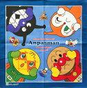 キャラクター ランチクロス(1枚透明袋入り) アンパンマン 4分割柄 ブルー